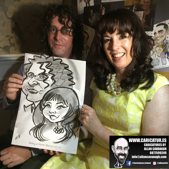 ROSE HOTEL KERRY WEDDING CARICATURES 24