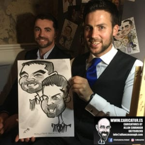ROSE HOTEL KERRY WEDDING CARICATURES 29