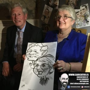 ROSE HOTEL KERRY WEDDING CARICATURES 32