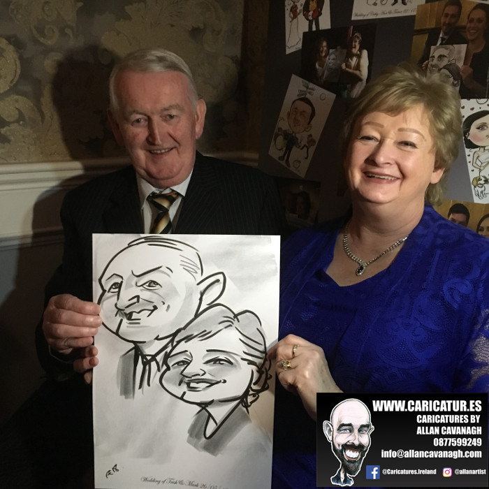 ROSE HOTEL KERRY WEDDING CARICATURES 36
