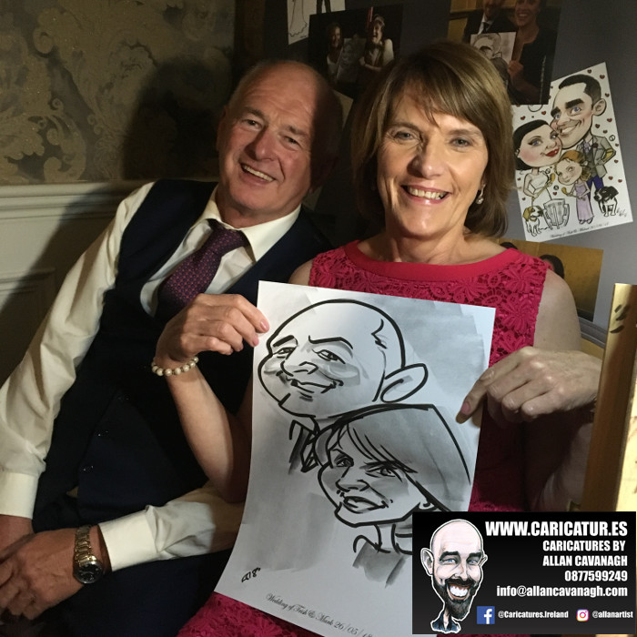 ROSE HOTEL KERRY WEDDING CARICATURES 39