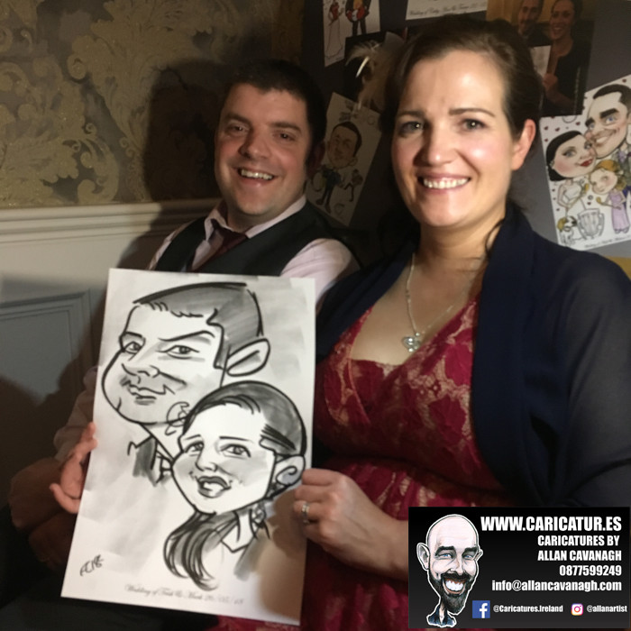 ROSE HOTEL KERRY WEDDING CARICATURES 42