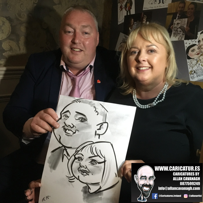 ROSE HOTEL KERRY WEDDING CARICATURES 46