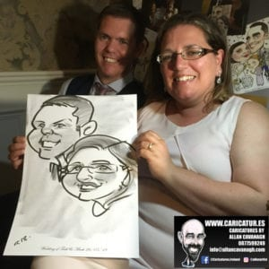 ROSE HOTEL KERRY WEDDING CARICATURES 47