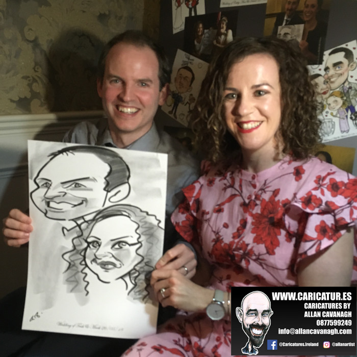 ROSE HOTEL KERRY WEDDING CARICATURES 48