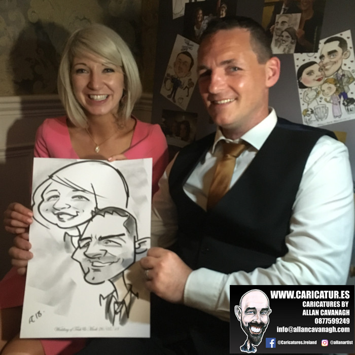 ROSE HOTEL KERRY WEDDING CARICATURES 51