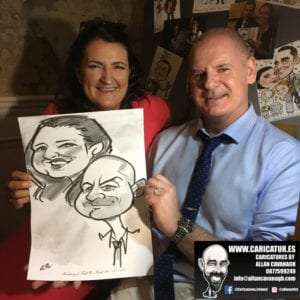 ROSE HOTEL KERRY WEDDING CARICATURES 53