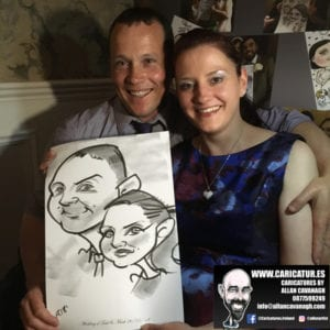 ROSE HOTEL KERRY WEDDING CARICATURES 57