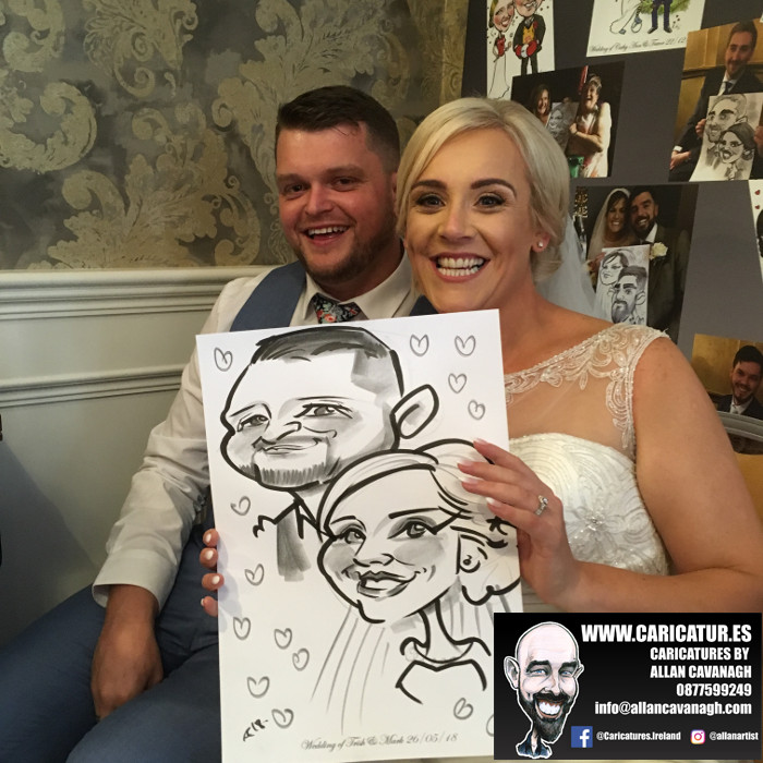 ROSE HOTEL KERRY WEDDING CARICATURES 7