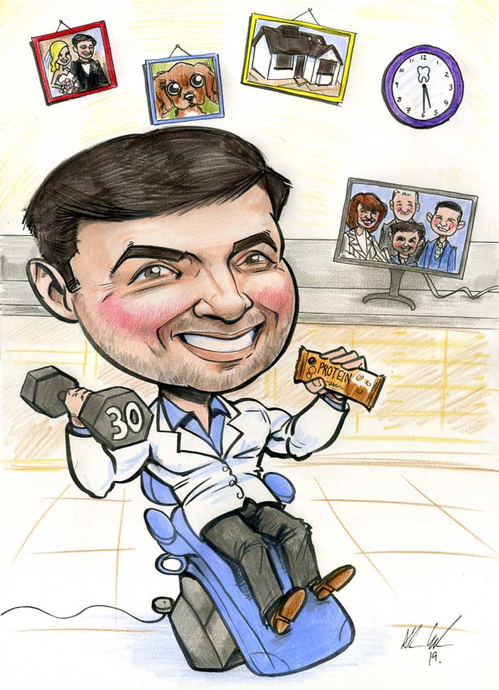 dentist gifts ireland caricature