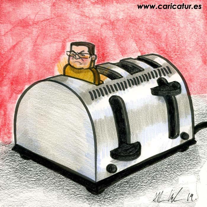 man in toaster cartoon