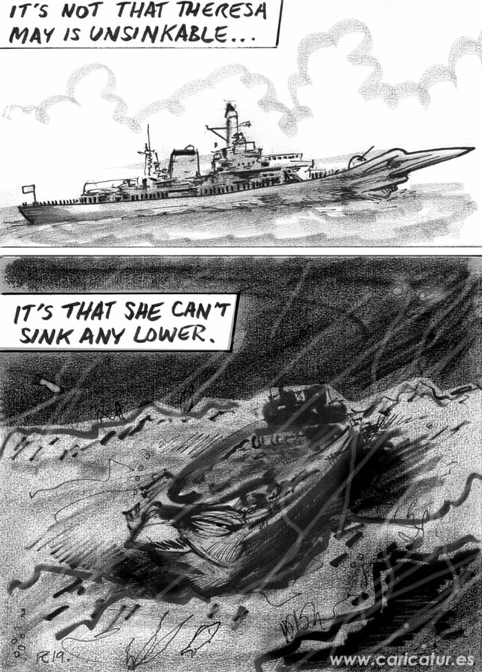 theresa may unsinkable cartoon