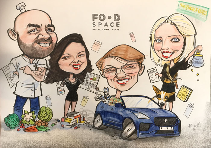 FoodSpace gift caricature