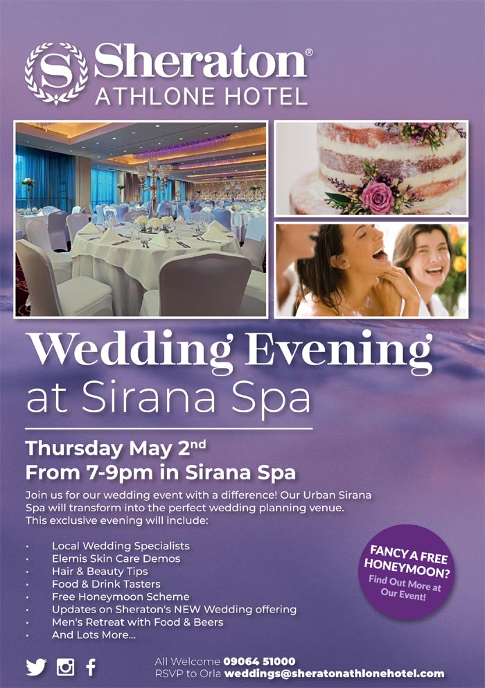 Sheraton Athlone Hotel Wedding Evening 2019
