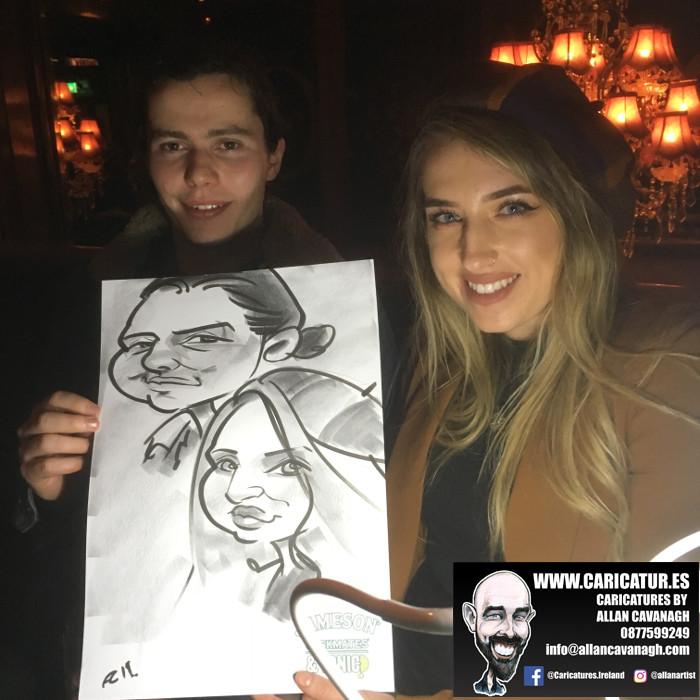 galway caricature artist liquor lounge dail bar 12