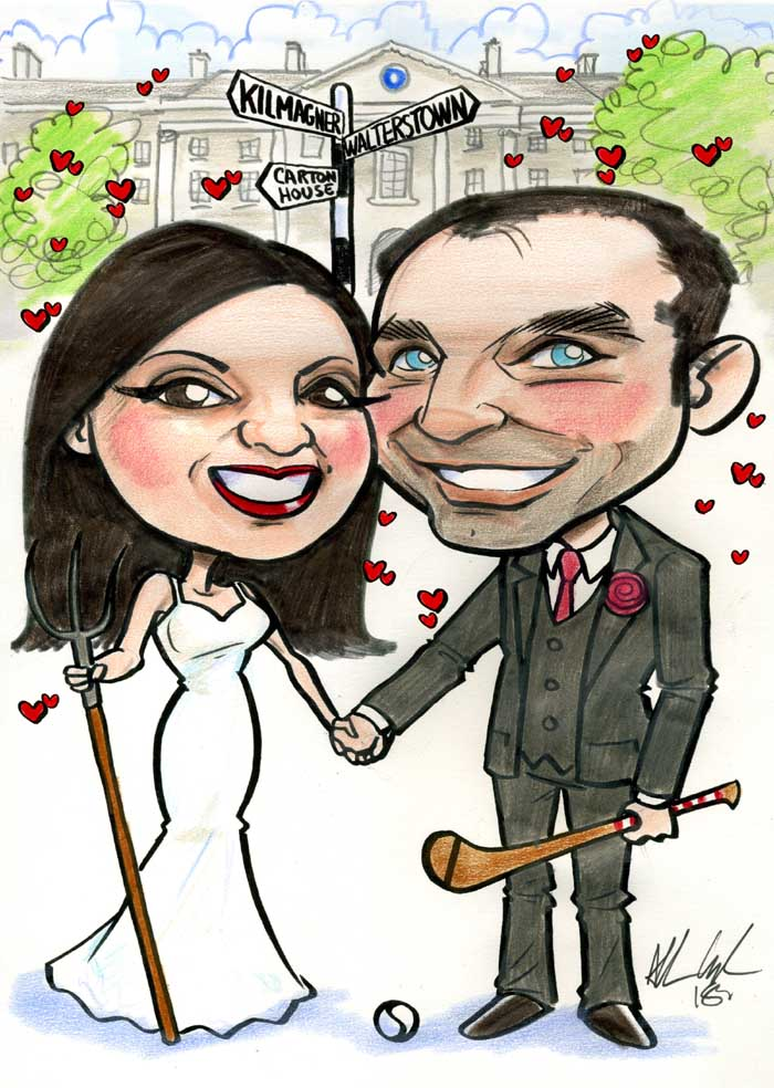 wedding invitation ideas caricatures allan cavanagh