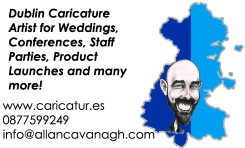 Caricature Artist Dublin Wedding Events Allan Cavanagh