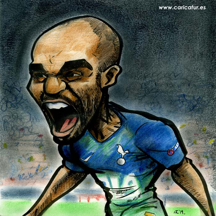 Lucas Moura Tottenham Hotspur caricature cartoon