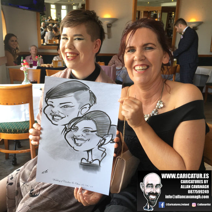 Shoreline Hotel Donabate Wedding Entertainment Caricature Artist 2