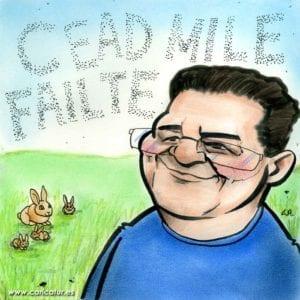 Céad míle fáilte cartoon hundred thousand welcomes cartoon