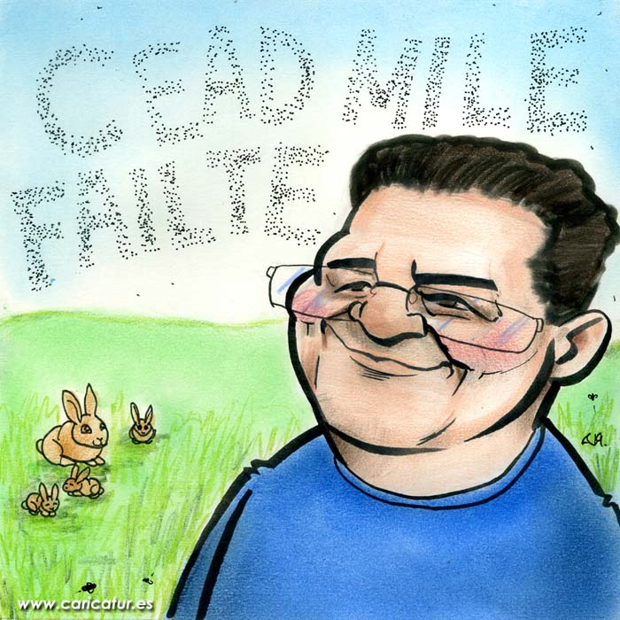 Céad míle fáilte cartoon hundred thousand welcomes cartoon