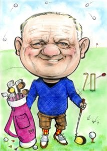 golf theme 70th birthday present