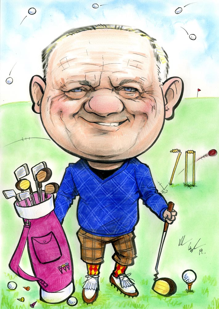 golf theme 70th birthday present