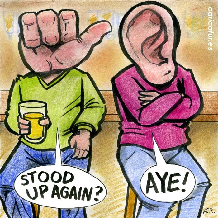 stood up cartoon