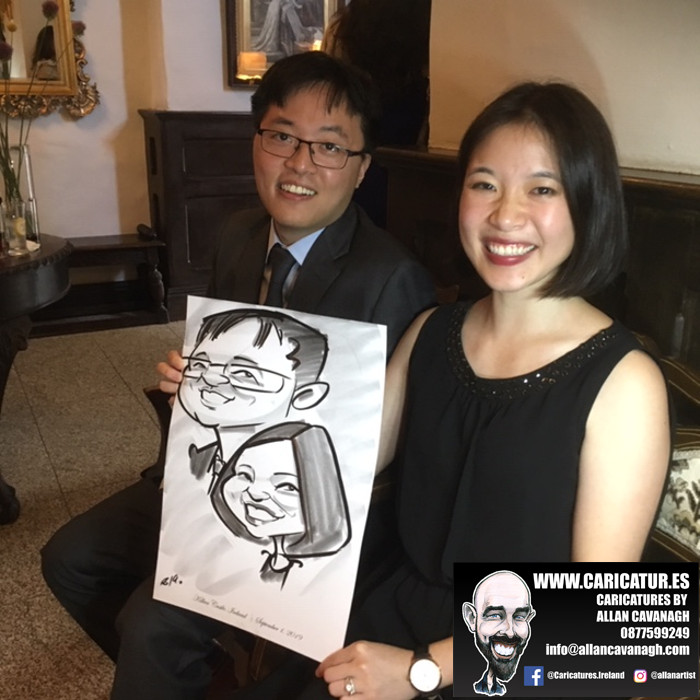 caricature artist wedding kildare