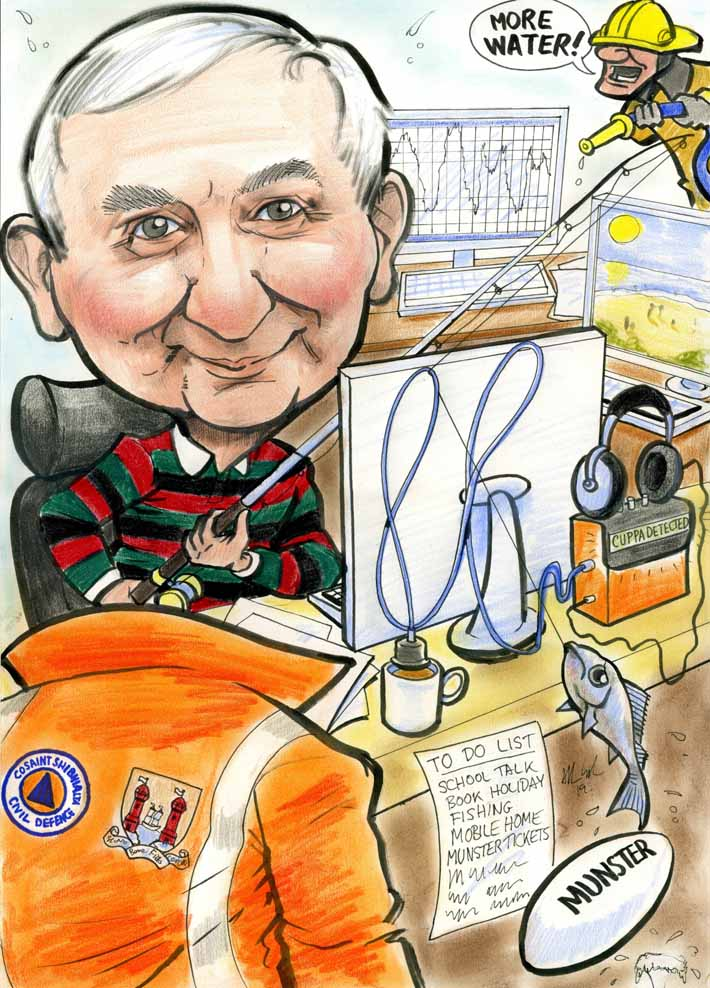 caricature artist cork retirement gift