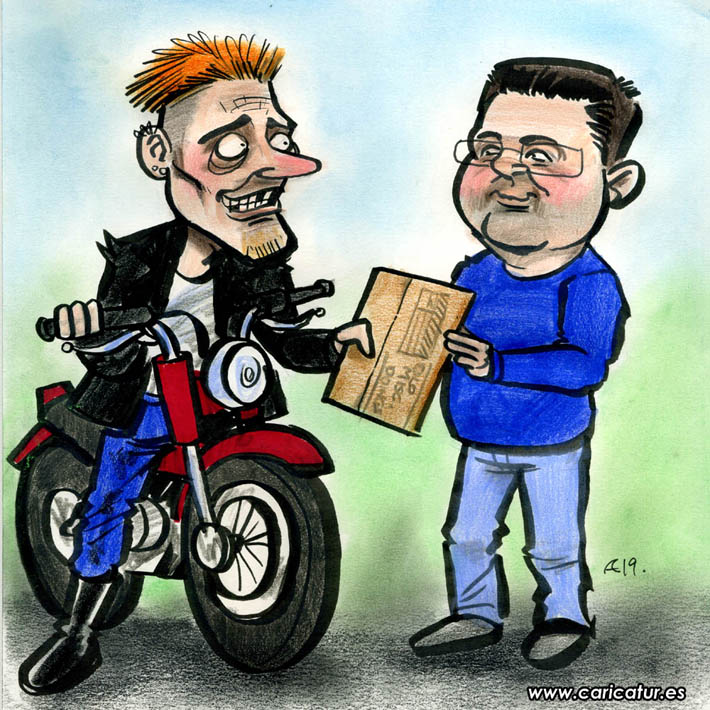 freebase kevin motorbike cartoon