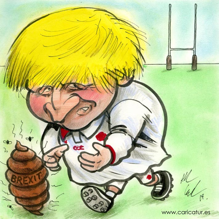 boris johnson rugby brexit cartoon today