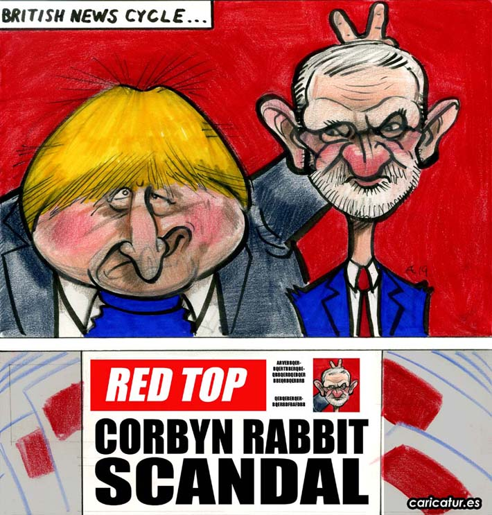 boris johnson jeremy corbyn election 2019 cartoon