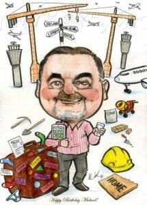birthday caricature gift ireland