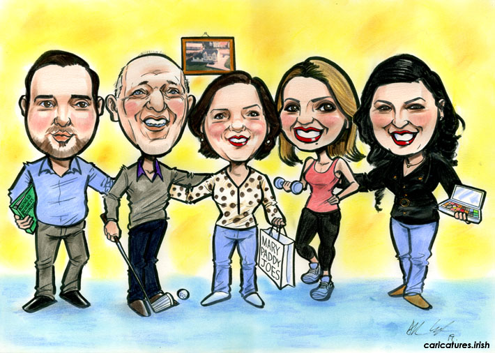 birthday presents gifts for mums ireland family caricature