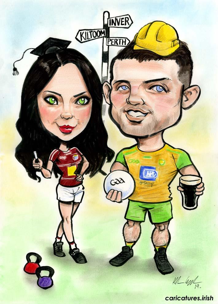 donegal gaa westmeath gaa civil engineer teacher irish in australia perth caricature gift