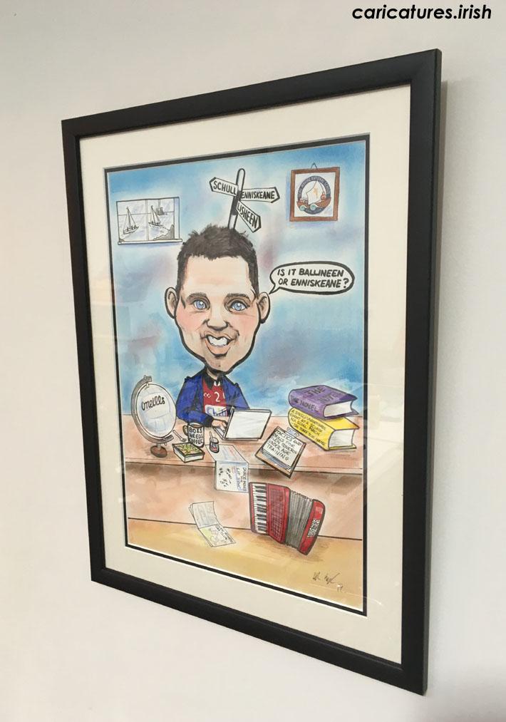 framed caricature gifts ireland caricature artist