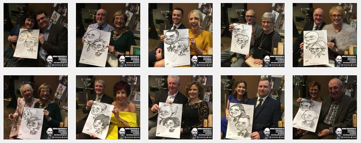 Galmont wedding entertainment caricatures Galway