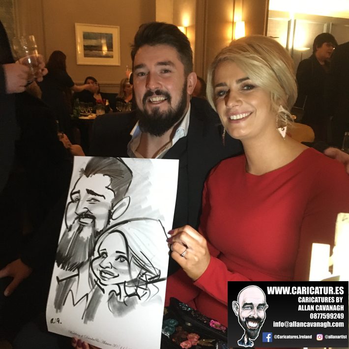 Hardiman Hotel Wedding Entertainment Caricature Artist 12