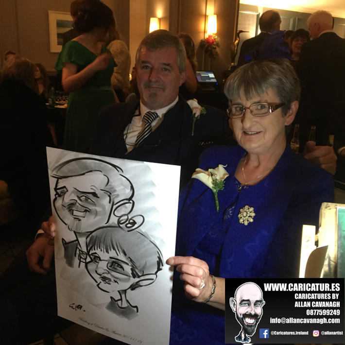 Amazing caricature entertainment from Allan Cavanagh!