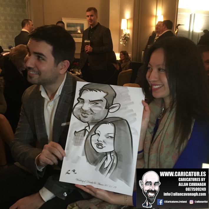 Haridman Hotel Wedding Entertainment Caricature Artist 6