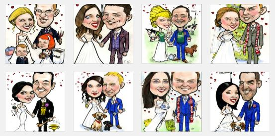 caricature wedding signing boards ireland
