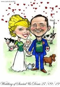 meath gaa wedding pope francis caricature cows horse tea