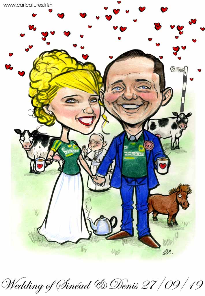 meath gaa wedding pope francis caricature cows horse tea