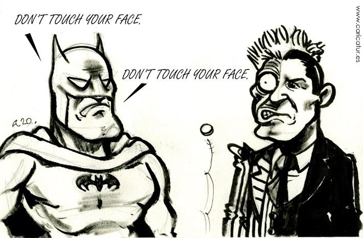 coronavirus batman twoface 710px