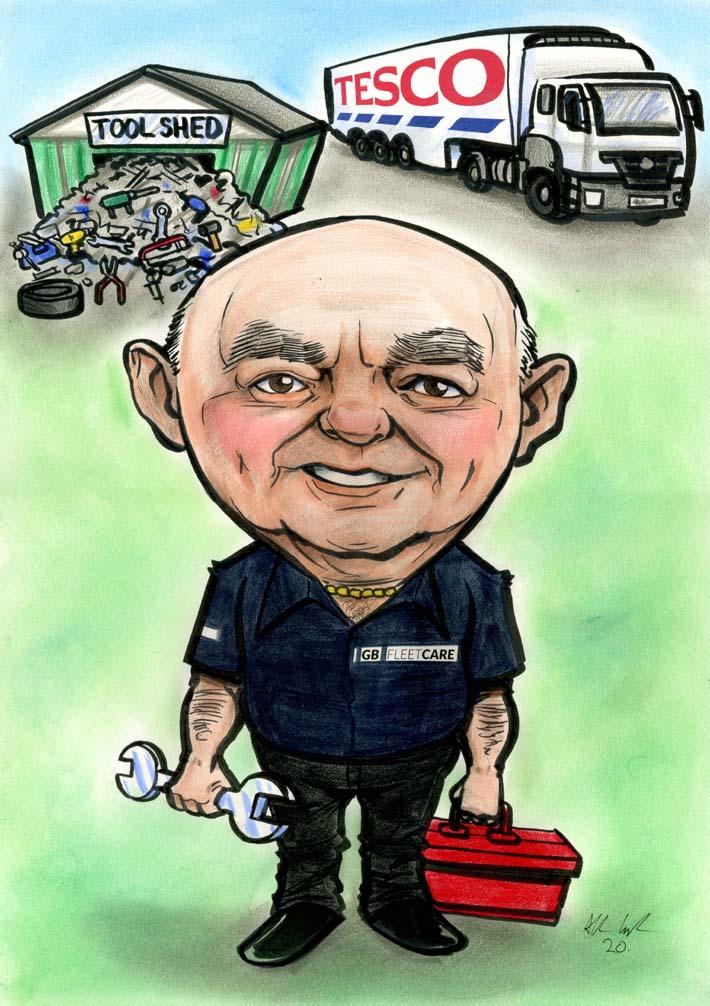 retirement gift caricature engineer 1