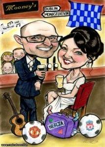 irish wedding anniversary gifts caricatures ireland