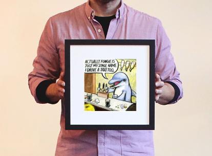 fungie dolphin framed photos for sale