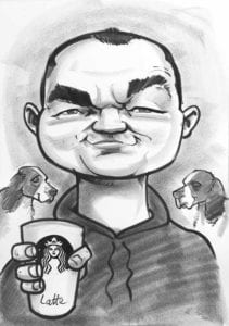 live style black and white caricatures dogs order online