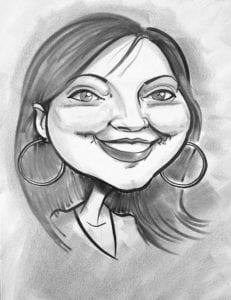 live style black and white caricatures female order online